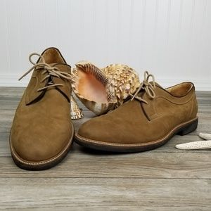 Johnston & Murphy suede sheepskin oxfords Sz 11.5